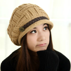 Lady Fashion Acrylic Knitted Winter Warm Dress Cap (YKY3129) pictures & photos