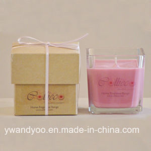 High Quality Scented Soy Candle in Glass Jar with Gift Box