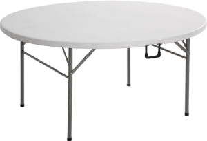China Wholesale 5FT Round Plastic Folding Dining Table For Event