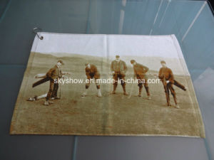 100% Cotton Custom Reactive Printed Golf Towel (SST1012) pictures & photos