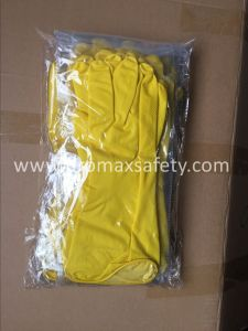 Waterproof Yellow Household Latex Rubber Garden Cleaning Kitchen Gloves pictures & photos