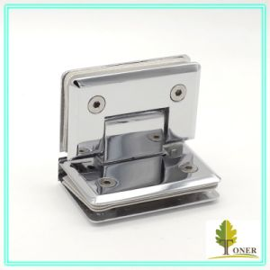 Square Bevel Edge 90 Degree Glass to Glass Hinge/ Zinc Hinge