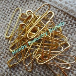 2016 New Arrival No Loop Gold Color French Safety Pin U Shaped Safety Pin