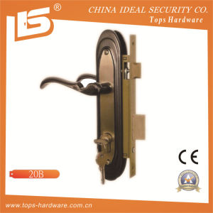 Aluminum Handle Iron Plate Mortise Lockset (20B) pictures & photos