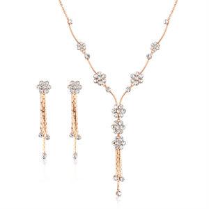 China Simple Design Alloy Rhinestone Costume Fashion Jewelry Set