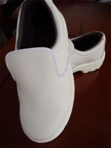 ESD PVC Leather White Safety Shoes pictures & photos