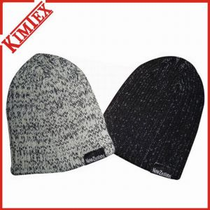 Fashion Marled Embroidery Cuffed Beanie with POM POM pictures & photos