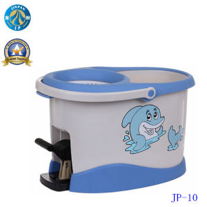 Jinpan Double Devices Hand Press 360 Floor Mop Bucket