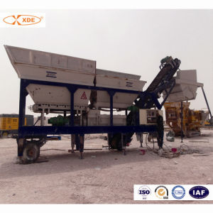 200ton/H Mobile Concrete Batching Plant for Road Construction