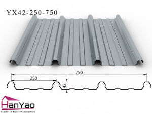2015 New Galvanized Corrugated Steel Floor Deck Yx42-250-750 pictures & photos