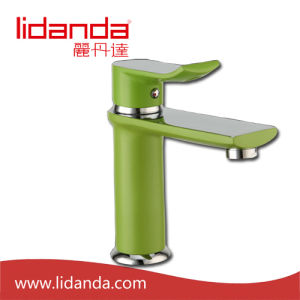 Contemporary Brass Basin Mixer with Green Paniting Finish pictures & photos