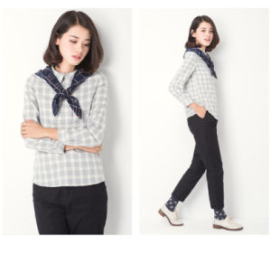 Lattice Casual Lady Blouse for Spring pictures & photos