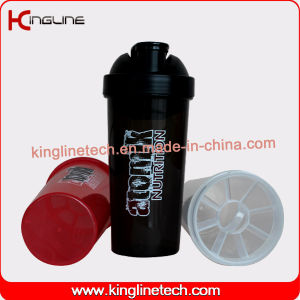 Eco-Friendly 700ml Plastic Custom Protein Shaker Bottle with Filter Wholesaler (KL-7031) pictures & photos