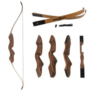 China Archery Wood Takedown Recurve Laminated Compound Traditional Hunting Shooting Bow Arrow For Sale