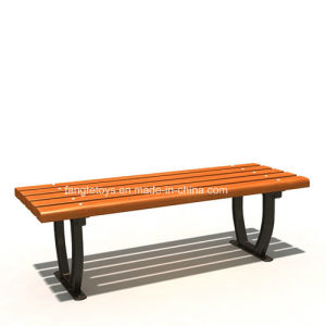 Park Bench, Picnic Table, Cast Iron Feet Wooden Bench, Park Furniture FT-Pb025