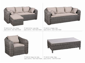 Hotsale Outdoor Patio Wicker Rattan Garden Sofa
