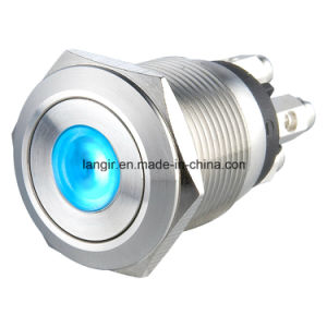 19mm Screw Terminal Metal Pushbutton Switch pictures & photos