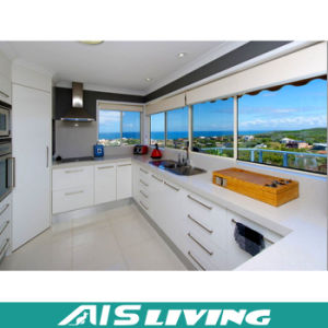 Modern MDF Finish Wooden Cupboard Kitchen Cabinet (AIS-K228)