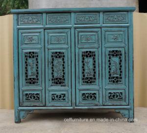 Old Antique Vintage Chinese Furniture Living Room Shoe Cabinet