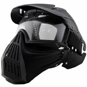Full Face Airsoft Mask Goggle Lens Mask Without Neck Protect pictures & photos