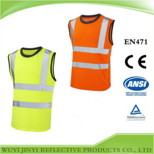 Hi Vis Sleeveless Tee Shirt with En 471