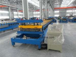 Popular Steel Sheet Roof Panel Roll Forming Tile Making Machine pictures & photos