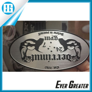 Chrome Embossed Aluminum Metal Sticker pictures & photos