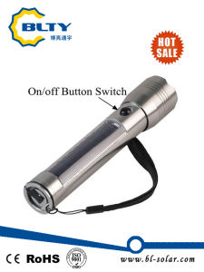 Rechargeable Power Solar LED Flashlight Torch pictures & photos