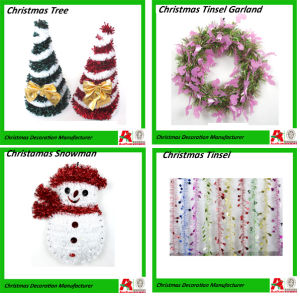 christmas decoration and tinsel garland