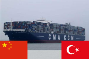 Sea shipping Service From China to Turkey