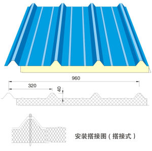 Polyurethane Sandwich Panel for Roof Application pictures & photos