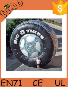 2015 Cheap Best Sale Advertising Inflatable Tire Balloon / Inflatable Tyre for Display
