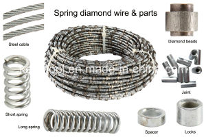 Diamond Wire Saw and Beads for Wet and Dry Cutting of Marble Limestone Travertine pictures & photos