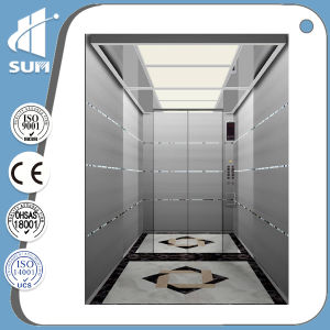 Machine Roomless Stainless Steel Cabin Speed 1.5m/S Passenger Lift pictures & photos