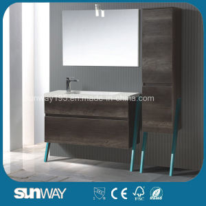 2016 Newest European Melamine Bathroom Cabinet with Mirror pictures & photos