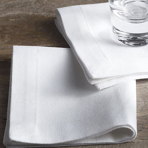 White Spun-Polyester Cotton-Feel Hotel Napkins (DPFR80127) pictures & photos