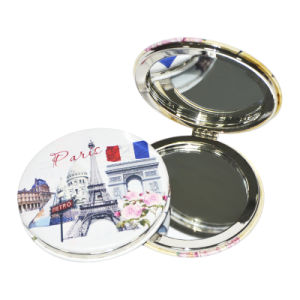 Whole Sale New Style Double-Sided Folding Personalized Cosmetic PU Mirror pictures & photos