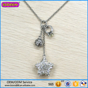 China guangzhou factory wholesale crystal charm necklace star guangzhou factory wholesale crystal charm necklace star fashion jewelry necklace aloadofball Gallery