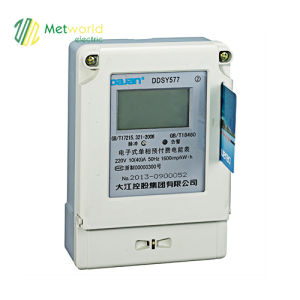 Three Phase Electronic Prepayment Energy Meter Ddsf21 7 pictures & photos
