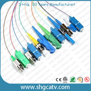 FC-Sc mm Duplex Armored Fiber Optic Cable Patch Cord pictures & photos