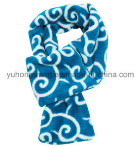 fashion Winter Warm Knitting Printed Polar Fleece Scarf