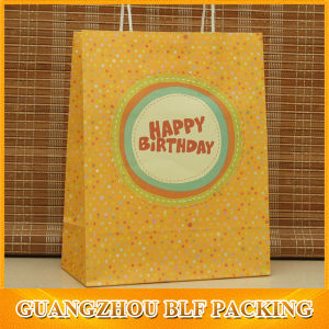 Paper Handles Lovely Printed Kraft Paper Bag pictures & photos