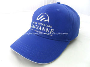 Custom Blue 100% Polyester 6 Panel Embroidery Golf Caps pictures & photos