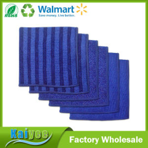 Nautical Blue Microfiber Scrub, Scour and Polish Cloths, 12X12 pictures & photos