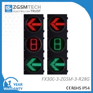 Red Green LED Arrow Traffic Light and 1 Digital Countdown Timer