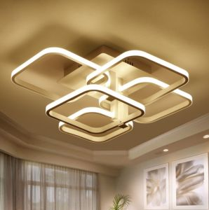 China Square Surface Mounted Modern Led Ceiling Lights For Living Room Light Fixture Indoor Home