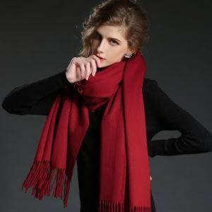 Fashion Accessories   Wine Red Cashmere Wrap Lady Scarf