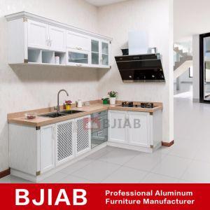 China White Oak Modern Metal Home Furniture Aluminum Kitchen Cabinet