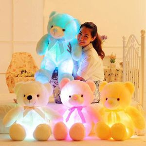 China 20 Inchesglowing Night Light Led Large Teddy Bear Plush Toy For Kids Animal Stuffed Pillow For Sleeping Back Cushion Perfect Birthday Gift For Baby Children China Plush Animaltoy And Promotion Gift