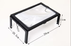 Lighted Magnifier with Folding Legs Hand Free Magnifier pictures & photos